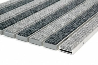 """Алюминиевые грязезащитные решетки h10 """"Ворс"""""""