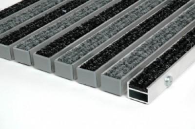 """Алюминиевые грязезащитные решетки h17 и h26 """"Ворс"""""""