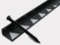 Бордюр -300.8,5.4.5- пластиковый чёрный L3000