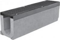 Комплект: Лоток водоотводный SUPER - 11.20.27 - бетонный с решеткой щелевой чугунной ВЧ-50, кл.D или кл.E