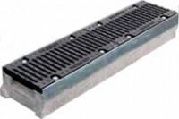 Комплект: Лоток водоотводный SUPER - 15.25.13 - бетонный с решеткой щелевой чугунной ВЧ-50, кл.D или кл.E