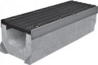Комплект: Лоток водоотводный SUPER - 20.30.23 - бетонный с решеткой щелевой чугунной ВЧ-50, кл.D или кл.E