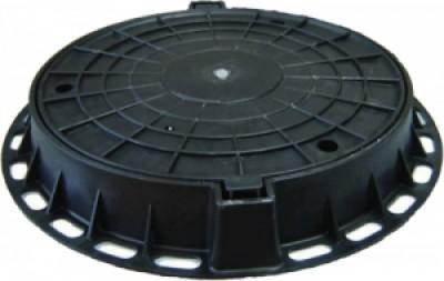 Люк ГОСТ 3634-99 пластиковый D800 (чёрный)