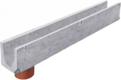 Лоток водоотводный - 10.14.13 - бетонный с вертикальным водоотводом