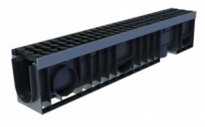 Лоток водоотводный Profi Plastik DN100 H200