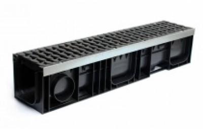 Лоток водоотводный Profi Plastik DN150 H202 Е600 в сборе с решетками