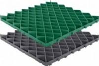 Решетка газонная -60.60.4- пластиковая зеленая (черная)