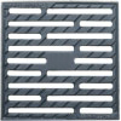Решетка водоприемная к дождеприемнику 280x280 чугунная (щелевая)