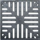 Решетка водоприемная к дождеприемнику 280x280 чугунная (снежинка)
